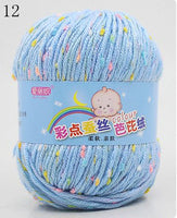 High Quality Baby Cotton Cashmere Yarn For Hand Knitting Crochet Worsted Wool Thread Colorful Eco-dyed Needlework