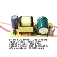 1-3W,4-7W,8-12W,15-18W,20-24W,25-36W LED driver power supply built-in constant current Lighting 110-265V Output 300mA Transformer