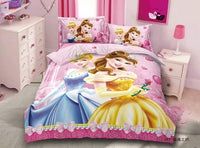 Disney Frozen Elsa Anna Cinderella Snow White Princess 3D Bedding Set Children's Girls Duvet Cover Set Bedroom Decor Twin 1.2m