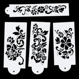 Hot 4Pcs/Set 27.5cm Flower DIY Layering Stencils Wall Painting Scrapbook Coloring Embossing Album Decorative Card Template