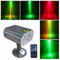 24 modes LED Disco Laser Projector light stage Effect Strobe lamp for DJ dance floor Christmas home Party indoor lighting show