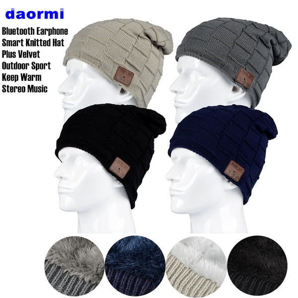 Stylish Wireless Bluetooth 4.2 Knitted Hat Stereo Headphone for SmartPhone