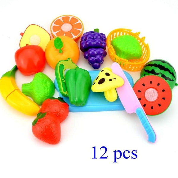 Pretend Play Plastic Food Toy Cutting Fruit Vegetable Food Pretend Play Children Toys For Kids Educational Toys