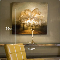 Nordic Luxury Ostrich Feather LED Floor Lamp Copper Brass/Resin Floor Light Art Deco Floor Lamps for Living Room Standing Light