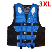 Polyester Adult kids Life Vest Jacket Swimming Boating Ski Drifting Life Vest with Whistle M-XXXL Sizes Water Sports Man  Jacket