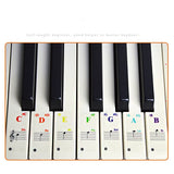 49/54/61/88 color Transparent Piano Keyboard Stickers Electronic Keyboard Key Piano Stave Note Sticker Symbol for White Keys