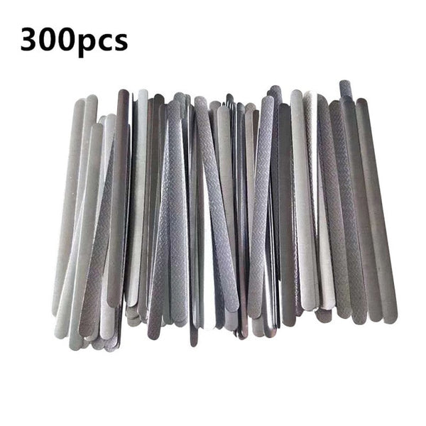 100/300PCS high quality mask DIY nose line nose bridge metal flat adhesive hot melt back adhesive aluminum strip production