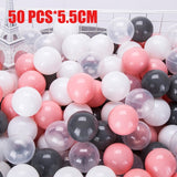 50/100 Pcs Eco-Friendly Colorful Ball Pit Soft Plastic Ocean Ball Water Pool Ocean Wave Ball Outdoor Toys For Children Kids Baby