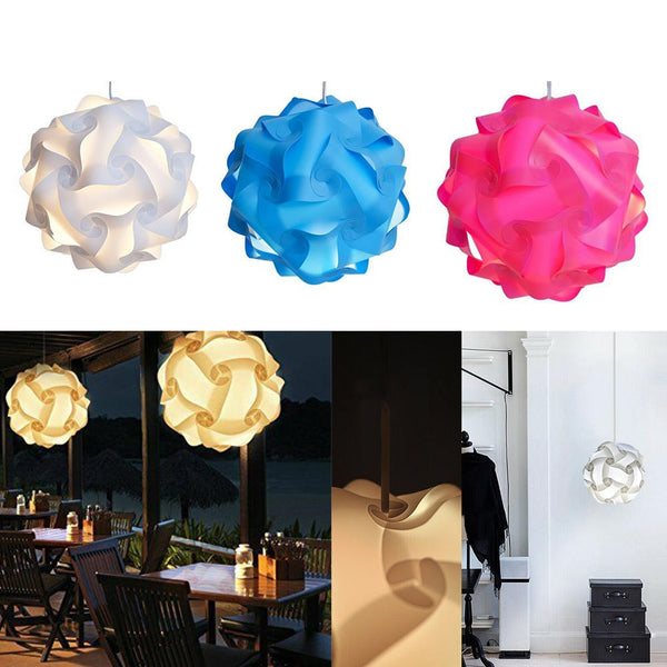 Dia.25CM Modern Ceiling Lampshade Elements IQ Puzzle Jigsaw Light Lamp Shade Ceiling Lampshade Creative DIY Chandelier Light