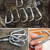 6pcs/lot Carabiner Travel Kit Camping Equipment Alloy Aluminum Survival Gear Camp Mountaineering Hook Mosqueton Carabiner