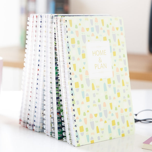 Creative family financial accounting notebook lovely Korean Flower coil daily office Notepads School subsidiary ledger plan book