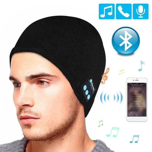 Bluetooth Music Wireless Headset With Mic Hat