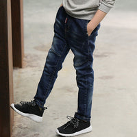 IENENS 5-13Y Kids Boys Clothes Skinny Jeans Classic Pants Children Denim Clothing Long Bottoms Baby Boy Casual Trousers