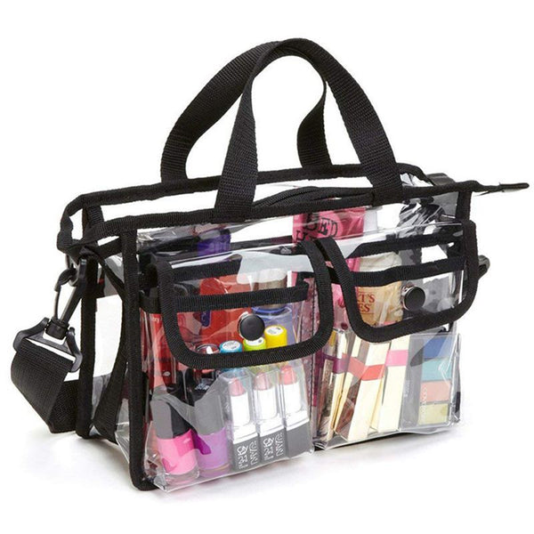 Clear Cross-Body Shoulder Bag,Toiletry Organizer Wash Bag -NFL Stadium Approved Purse