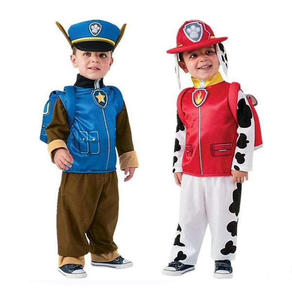 Free Ship Patrol costume Kids Boys Girls Birthday Purim Marshall Chase Skye Cosplay Costume Patrol Dog Children Ryder Party Role