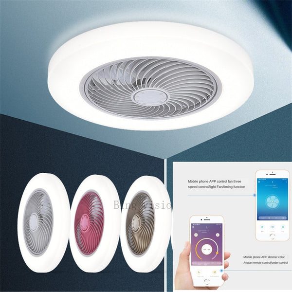 Large size 58cm smart APP smart ceiling fan fans with lights remote control bedroom decor ventilator lamp 220V 110V ceiling fan