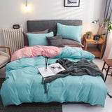 American style bedding set Dark green + gray King Queen Full single size Bed linen  duvet cover+Bed sheet+Pillowcase