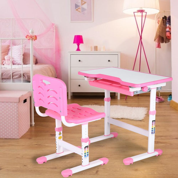 Adjustable Kids Study Desk Chair Children Activity Art Table Set Children Activity Art Table Set Metal Frame