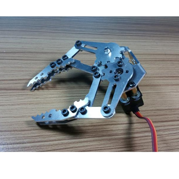 Silver Robotic Arm Holder Aluminum Alloy Gripper Hand Metal Robot Claw with MG996r Servo for Arduino DIY Project Stem Toy Parts