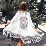 CUPSHE Black Sunflower Crochet Bikini Cover Up Sexy Swimsuit Beach Dress Women 2020 Summer Bathing Suit Beachwear Tunic Shirt
