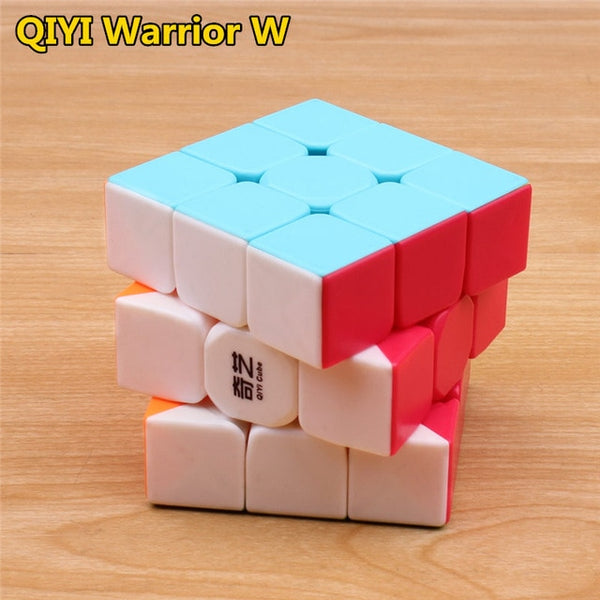 qiyi warrior s Magic Cube Colorful stickerless speed 3x3 cube antistress 3x3x3 Learning&Educational Puzzle Cubes Toys