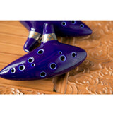 Hot 12 Hole Ocarina Ceramic Alto C Legend of Zelda Ocarina Flute Blue Instrument
