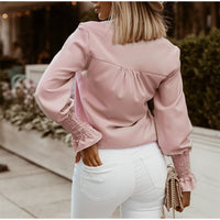Ruffled Polka Dot Print Women's Blouses Autumn Single Breasted Long Sleeve Female Blouse 2020 Elegant Office Ladies Tops Clothes