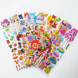 9pcs/set Stickers DIY Cute Stickers Children Puzzle Games Make-a-Face Princess Animal Dinosaur Assemble Toys for Girls Training