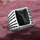 2020 Fashion Simple Style Black Square Ring Classic Ring Wedding Engagement Jewelry