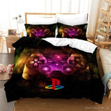 PlayStation Geometry 3D Printed Bedding Set 2/3pcs Soft Quilt Cover / Duvet Cover Set Twin Full Queen King Size Home Textile