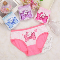 4Pcs Lot New Arrive Kids Underwear Cotton Baby Girl Panties Children's Briefs Cartoon Designs Shorts 2 To 10 Years ZL15