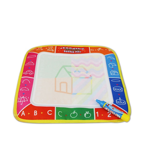 Drawing Toys Water Drawing Mat 29 * 29.5 CM Board Painting and Writing Doodle With Magic Pen Non-Toxic Drawing Board for Kids