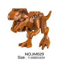 Dinosaur Park DIY Blocks Dinosaurs Tyrannosaurus Tiny Models Building Block Kids Toys Creator Animals Action Figure Juguetes