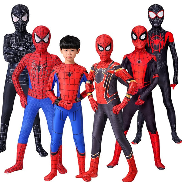 Iron Spider Cosplay Amazing Spider-boy Man Halloween Costume Peter Parker Zentai Suit Superhero Bodysuit For Kids Adult C39A66