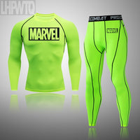 2020 Men's Thermal Underwear Set MMA Tactics Leggings Solid Color Costume Compress Fitness Long Johns Men Winter Brands  Men