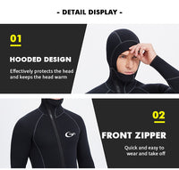 YONSUB Wetsuit 5mm / 3mm / 1.5mm / 7mm Scuba Diving Suit Men Neoprene Underwater hunting Surfing Front Zipper Spearfishing Suit
