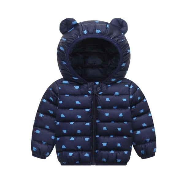 Cute baby girls jacket kids boys Light down coats with ear hoodie spring girl clothes infant children's clothing for boys coat