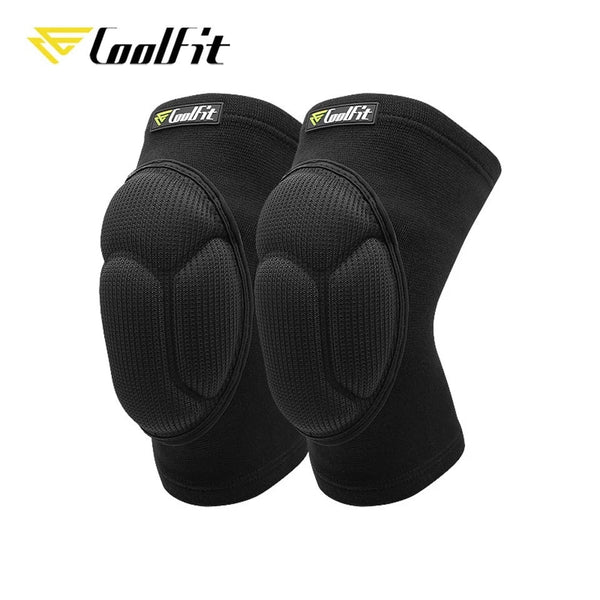 CoolFit 1 Pair Protective Knee Pads Thick Sponge Football Volleyball Extreme Sports Anti-Slip Collision Avoidance kneepad Brace