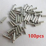100Pcs/Lot Aluminum Alloy Bike Bicycle Brake Shifter Inner Cable Tips Wire End Cap Crimps Bicycle Accessories For MTB Bike
