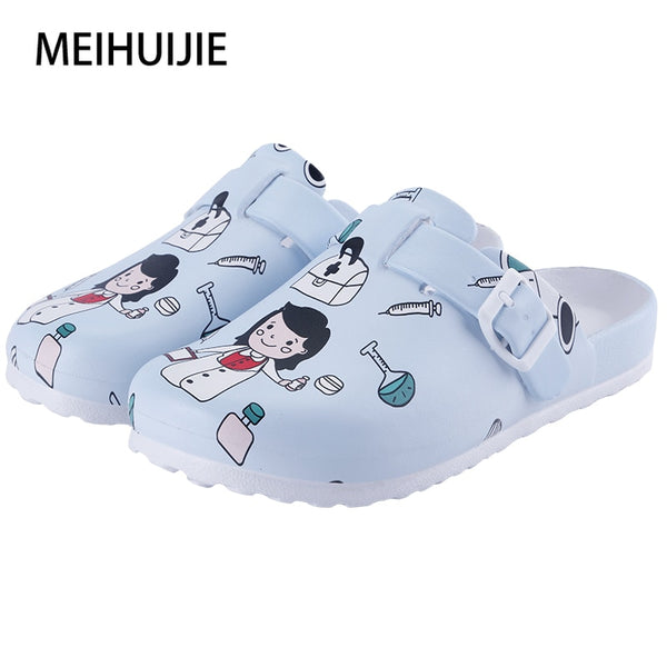 Medical shoes women nurse slippers EVA laboratory doctor clogs Non-slip Nurse Clogs Surgical Shoes dentist Work slippers