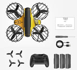 Holy Stone HS450 Mini RC Drone Headless Drones Mini RC Quadrocopter Dron One Key Land Auto Hovering  3 Batteries  Helicopter