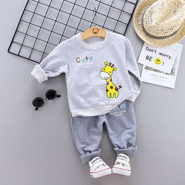 New Spring Autumn Baby Fashion Clothes Kid Boys Girls T Shirt Pants 2Pcs/sets Children Infant Clothing Toddler Cotton Sportswear