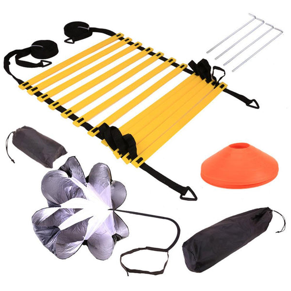 Speed Agility Training Set, Resistance Parachute Agility Ladder Speed Training Equipment for Soccer Football Baseball Basketball