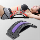 Back Massager Stretcher Equipment Massageador Magic Support Stretch Fitness Relaxation Spine Pain Lumbar Relief Back Stretcher