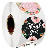 Gold Thank You Stickers Scrapbooking Seal Labels 500pcs Pink Small Business Handmade Sticker for Christmas Gift Decor Stationery