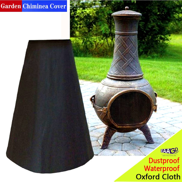 EAAGD 1Set Outdoor Fire Pit Cover Black Outdoor Waterproof Dust-Proof Heater Cover Protection for Garden Backyard Stove