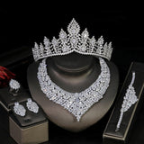 New Design 5PCS Luxury Large Set 3A  CZ Jewelry for Women's Wedding Engagement Africa Middle East Party