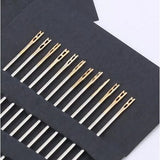 12pcs Stainless Steel Self Threading Needles Hand Sewing Needles Home Household Tools 5BB5841