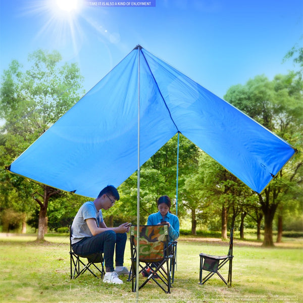 Outdoor Skylight Awning Shade Portable Multi-person Camping Canopy Shade Beach Sunscreen Rainproof Sky Tent  Beach Canopy