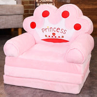 115CM Baby Kid Sofa Fashion Cartoon Crown Seat Child Chair Toddler Child Cover for Sofa Folding with Filling Material Mini Sofa